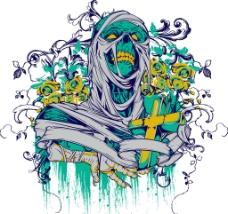 T恤花纹纹身图案图片