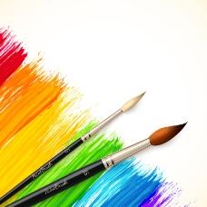 精美水彩画笔背景矢量素材