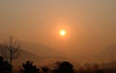 黄昏落日图片