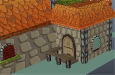 岩石瓦房游戏模型