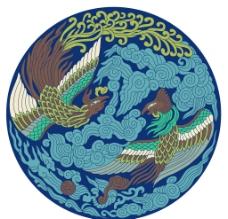 凤纹 圆形底纹 古典 图片