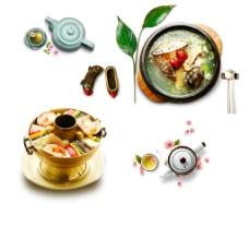 火锅素材 养生火锅图片
