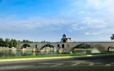 法国风景春天的石桥图片