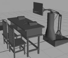 篮球架和课桌模型