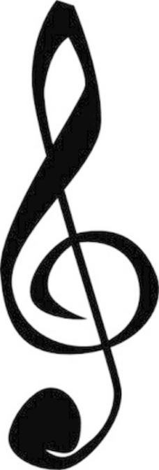 高音谱号音乐符号的剪贴画