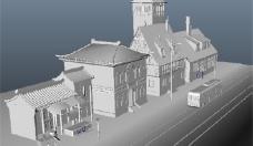 古式建筑游戏模型