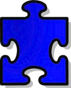 拼图益智剪贴画2蓝