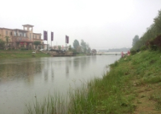 湖景建筑图片