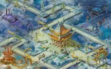 天庭仙境图片