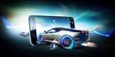 大气上档次的3D赛车海报