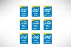 Intel英特尔全新CPU标志图片