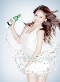 李孝利飲料廣告