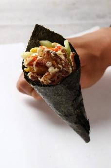软壳蟹手卷图片