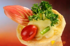 法香鲜蔬卷筒比萨图片