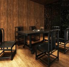中式茶厅图片