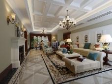 欧式客厅模型