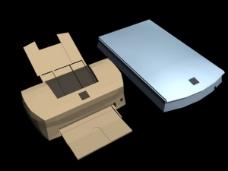 办公设备模型
