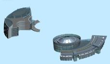 创意设计商业建筑组合3d效果图