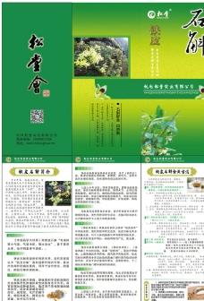 铁皮石斛宣传折页图片