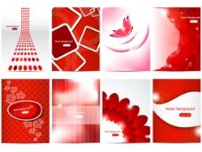 红色图案背景