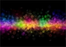 绚丽彩色霓虹背景图片矢量图5