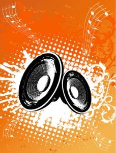 充满活力的音乐背景图案01矢量图
