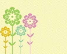 花朵底纹卡片背景