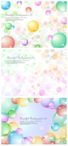 透明的球球气泡背景矢量图