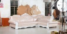 欧式沙发 皮沙发 沙发图片