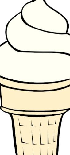软冰淇淋ff菜单剪贴画