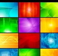 幻彩光效实用背景矢量素材