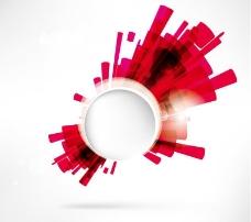 红色光效背景矢量素材