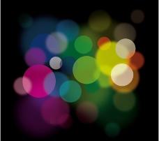 彩色光晕背景矢量素材