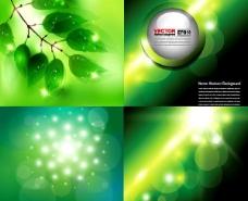 绿色梦幻光效背景矢量素材
