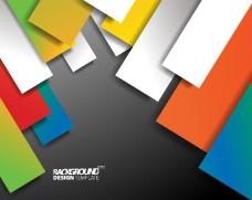 彩色长方形背景矢量素材