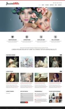 绘画工作室网站模板图片