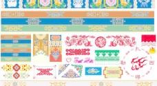 藏族纹饰花纹设计矢量素材