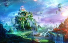 天界仙山图片