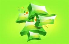绿色叠加立体创意图案psd素材
