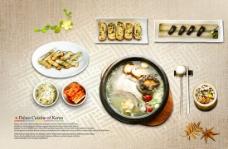 韩国料理美食小吃psd分层素材