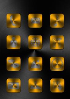 金属质感图标PSD素材