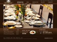 西餐厅网页设计psd素材