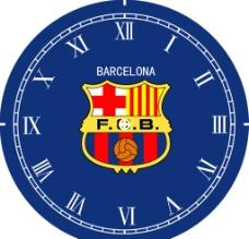 足球队钟表图片