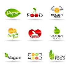水果绿叶企业logo设计图片