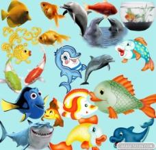卡通海洋鱼类PSD源文件