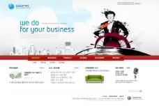 商务网页模板psd素材