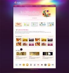 创意艺术网站模板PSD素材