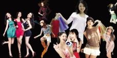 时尚购物美女PSD素材