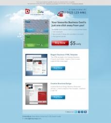 购物商业网站模板psd素材