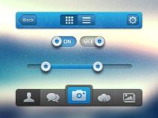 手机界面app应用psd源文件